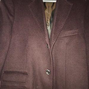 40 regular burgundy overcoat Joseph Abboud